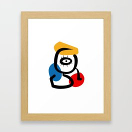 Hommage to Miro Framed Art Print