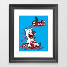 North vs. South Framed Art Print