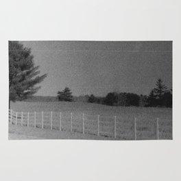 White Fence Rug
