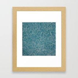 teal test Framed Art Print