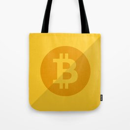 Bitcoin Golden Coin Tote Bag