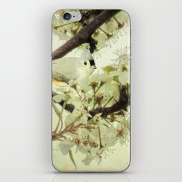 Tufted Titmouse Spring Flower Farmhouse Art Country Home Decor A132 iPhone Skin