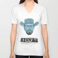 django V-neck T-shirts featuring Django by kjell