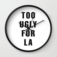 kardashian Wall Clocks featuring Too Ugly for LA by NoHo