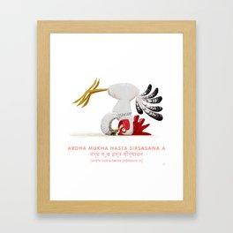 Ardha Mukha Hasta Sirsasana Chicken Yoga Framed Art Print