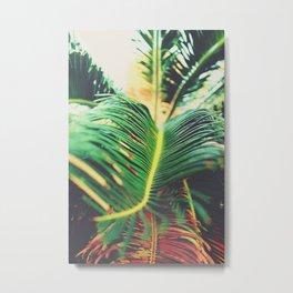 Palm Leaf Parallax Metal Print