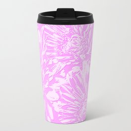 In The Pink Floral Abstract Travel Mug