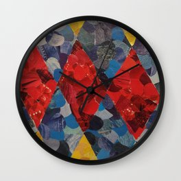 Primary Colors Magazine Collage Wall Clock