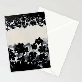 Black and White Confetti Stripe Stationery Cards