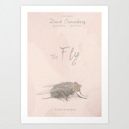 The Fly - Movie poster from David Cronenberg's classic horror film with Jeff Goldblum Art Print