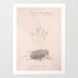 The Fly - Movie poster from David Cronenberg's classic horror film with Jeff Goldblum Art Print