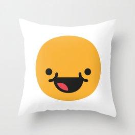Emojis: Happy Throw Pillow