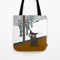 snow Tote Bags featuring Snow by BATKEI