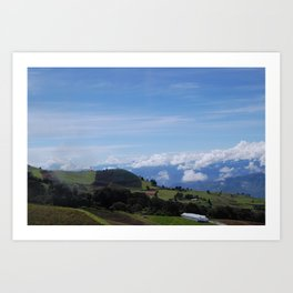 Mountainside Farming: Irazú Volcano, Costa Rica Art Print