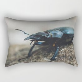 Stag Beetle Rectangular Pillow