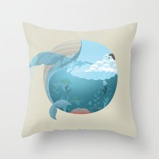 Whale Jump Throw Pillow