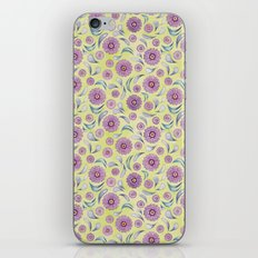 Floral on Lime iPhone Skin