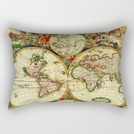 Ancient World Map 1689 Rectangular Pillow