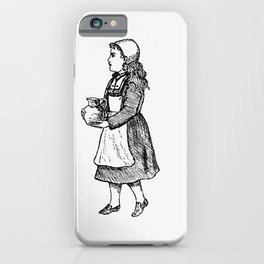 Peasant girl from Sunshine And Sea A Yachting Visit To The Channel Islands And Coast Of Brittany iPhone Case