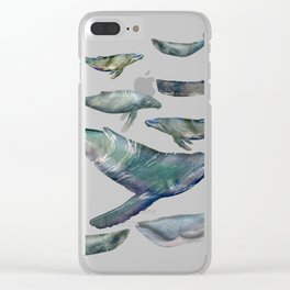 Whales Clear iPhone Case