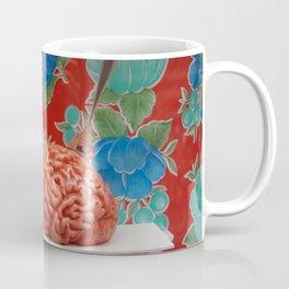 Tasty brain I red background Coffee Mug