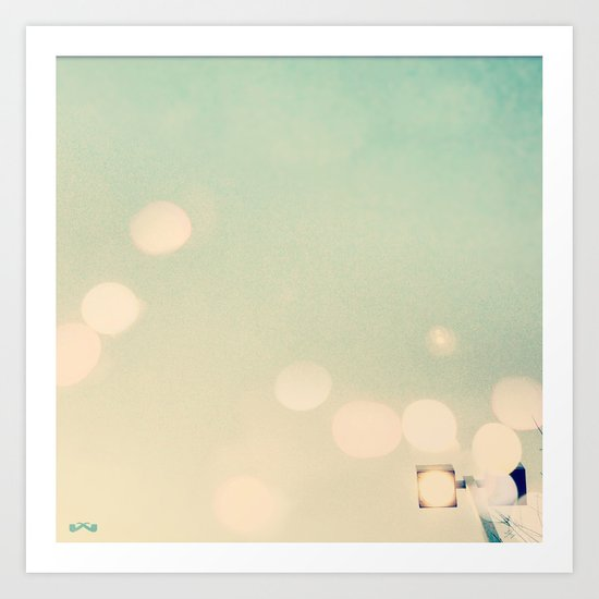Street Light Bokeh. Art Print
