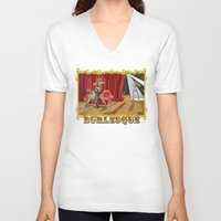 burlesque V-neck T-shirts featuring BURLESQUE by Alessandro Ardy