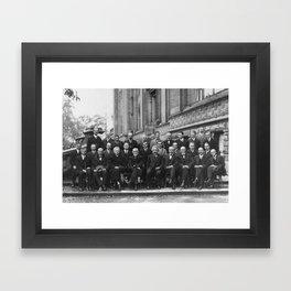 1927 Solvay Conference on Quantum Mechanics Framed Art Print