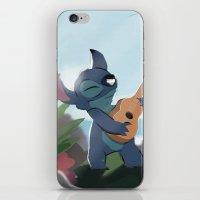 lilo and stitch iPhone & iPod Skins featuring Stitch (Lilo & Stitch) by Bana Sakhnini