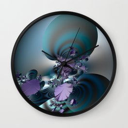 Purple leaves on radar of tranquility Wall Clock