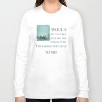 farm Long Sleeve T-shirts featuring The Farm by Tsuki