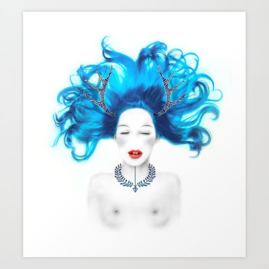 Dreamy girl Art Print