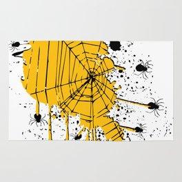 Spiderweb spiders ink splash Rug