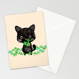 The Luckiest Cat Stationery Cards