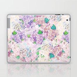 Pastel Purple and blue Lilac & Hydrangea - Flower Design Laptop & iPad Skin