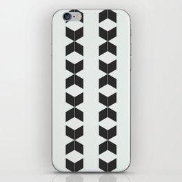 Phillip Gallant Media Design - Black Diamonds on White iPhone Skin