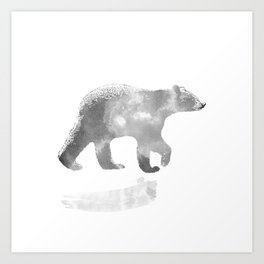 graphic bear III Art Print