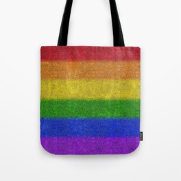 Rainbow Glitter Gradient Tote Bag