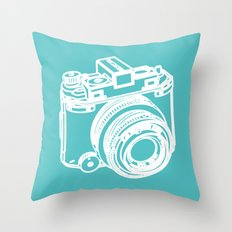 dslr camera Throw Pillow