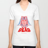 tron V-neck T-shirts featuring Tron of the dead by Gimetzco's Damaged Goods