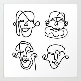 Rostros Art Print