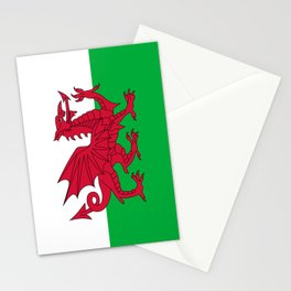 Welsh Flag of Wales Stationery Cards