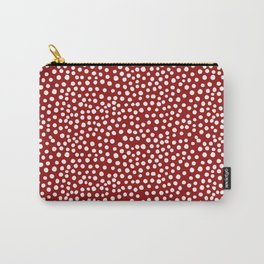 DOT PATTERN - red and white Carry-All Pouch