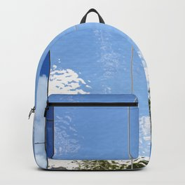 Beautiful abstract background of reflection in mirrored wall Backpack