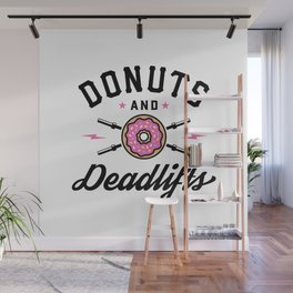 Donuts And Deadlifts v2 Wall Mural