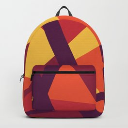 Abstract Modern Bold Geometric Lines Backpack