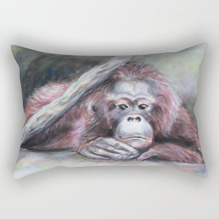 Big Red: Contemplating Rectangular Pillow