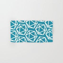 D20 Pattern - Blue White Hand & Bath Towel