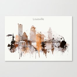 Vintage Louisville skyline design Canvas Print
