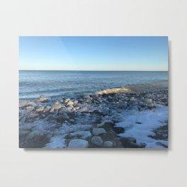 winter at lake michigan Metal Print